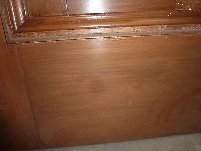 """c1902 antique MAHOGANY door BEAUX ARTS mansion 81.5 x 24 x 1.75"""" original FINISH 5"""