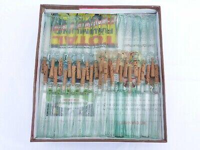 2 x alte kleine Medizin Glas Apotheke Apotheker Flasche grün lang ca. 10,0 cm 12