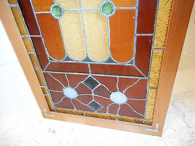 Vintage Stained Glass Window Panel (3068)NJ 4