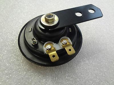 Hupe, klein schwarz , Horn, 6 Volt Gleichstrom, 1,5 A, 70mm Durchmesser, 100 db