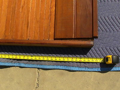 Victorian Antique Oak Wood Tambour Door Partition Overhead Roll Up Parlor Entry 8
