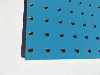 BLUE Painted Wooden Pegboard / Display Board 600 x 600 x 6mm 5