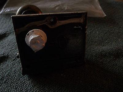 #56H antique vtg  metal door knob AS IS  with  lock 6
