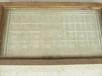 Antique American Cut Star Burst Heavy Glass Window - VERY RARE 7