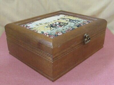 Himark Japan Wooden Jewelry Box with Tapestry