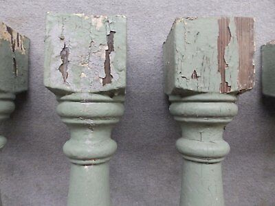 1 Antique Turned Wood Spindle Porch Baluster Thick Old Vtg Architectural 541-17R 10
