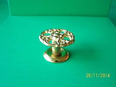 "Victorian Drawer Knobs Antique Style, 1 1/4"" Dia. Solid Brass 2"