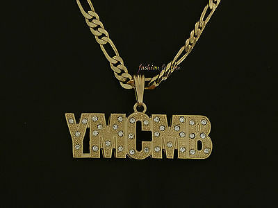 WOODEN YOUNG MONEY ENT PENDANT CHAIN NECKLACE GOOD WOOD LIL WAYNE HIP HOP YMCMB