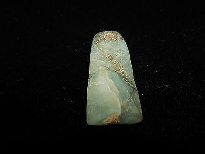 Pre-Columbian Jade Pendant, Light Green Translucent Jade, Authentic 3