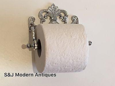Chrome Toilet Roll Holder Victorian Vintage Edwardian Novelty Silver Nickel Old