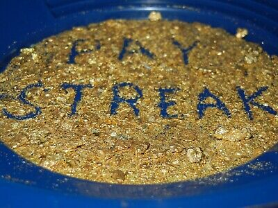 GOLD PAYDIRT UNSEARCHED CONCENTRATES 2+lbs CHUNKY PLACER NUGGETS PICKERS FLAKES 4