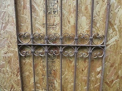 Antique Victorian Iron Gate Window Garden Fence Architectural Salvage Guard J 4
