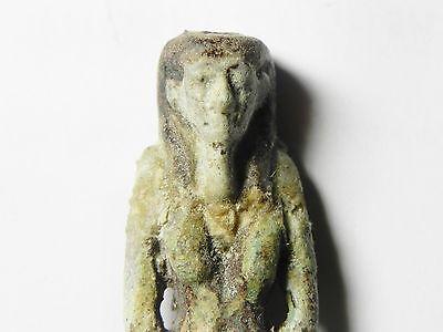Zurqieh -Mk2242- Ancient Egypt - Faience Amulet, 1075 - 600 B.c 2