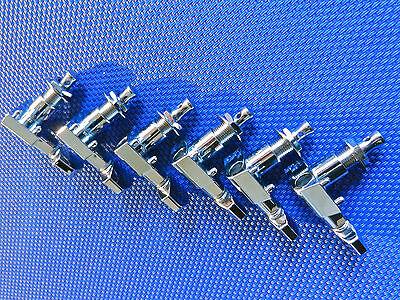 6 Fender Logo Stratocaster / Telecaster TUNERS TUNING PEGS Guitar Chrome 5