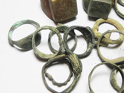 Zurqieh - Ancient Holy Land , Group Of 38 Ancient Bronze Rings 3