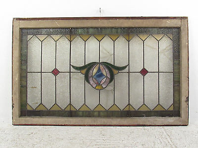 Antique Vintage Stained Glass Hanging Window (1353)NJ