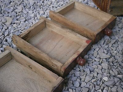 Antique Vintage Wooden Box Wiht Tree Drawers Beautiful Painting 11