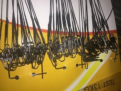10X//Set Stainless Steel Trace Wire Leader Fishing Line Leaders With Snap /&Swivel