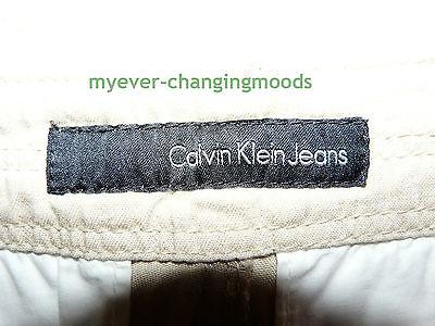 Calvin Klein Unisex Jeans 28 Waist 33 Inside Leg Stone Cream New Unworn Rrp £154 9