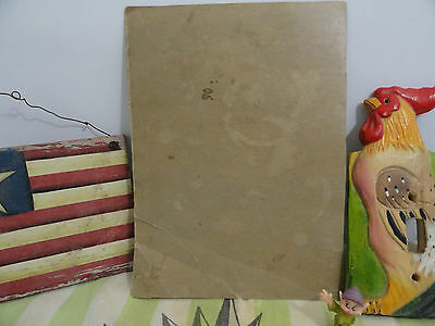 Collectible Trunk Find Kellogg's Rosters, Old Wooden Flag of Texas  Cannon Linen 3