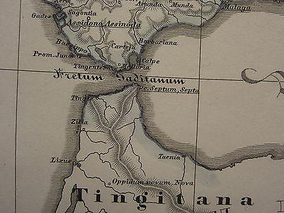 Map Of Spain 711.1846 Spruner Antique Historical Map Kingdom Of Visigoths Iberia Spain 477 711