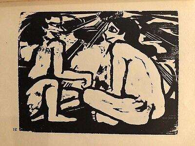 """1959 Vintage EMIL NOLDE /""""TROPICAL SUN/"""" BEACH SUNSET WOW COLOR Offset Lithograph"""