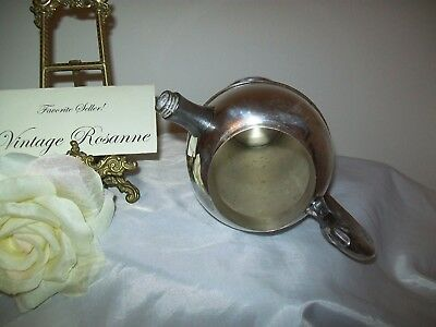 Silver Plated Pitcher Victorian Plate Canada Vintage Coffee Martini Serve Vase 5
