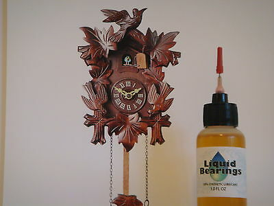 Liquid Bearings, BEST 100%-synthetic oil for vintage cuckoo clocks, PLEASE READ! 2