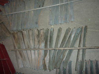 SALVAGED wooden SHUTTER slats GREAT for ART projects & painting - w/ATTACHED bar 10
