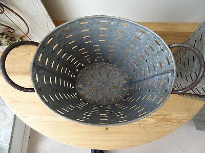 OB005 Large Oliveneimer ~Iron ~Olivenkorb ~ Olive Bucket Washtub Oval 4