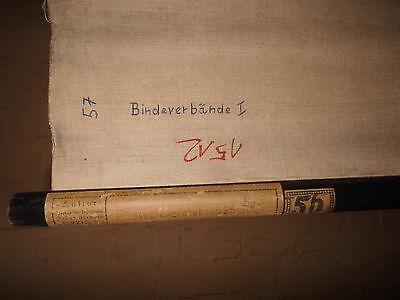 1x Bindenverbände I /Lehrtafel (1512), gebr.Logo Deut. Hygiene. Museum Dresden