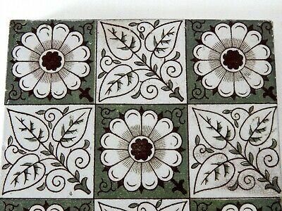 "Antique Victorian Minton Hollins  & Co 6"" x 6"" Tile Stoke on Trent #2 4"