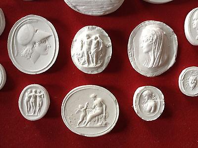 27 Grand Tour Cameos intaglios Gems Medallions plaster cameo seals Classic 5