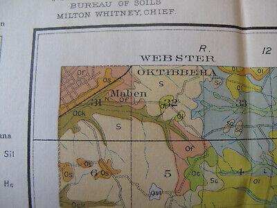 Color Soil Map Oktibbeah County Mississippi Starkville Sturgis Osborn Maben 1979 4