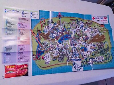 2012 Canada/'s Wonderland Park Map featuring Leviathan and Dinosaurs Alive