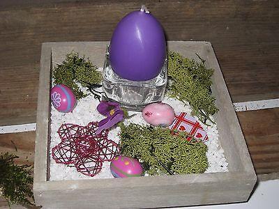 Dekoschale Holztablett Kerzen Tablett Tischdeko Ostern Deko Holz