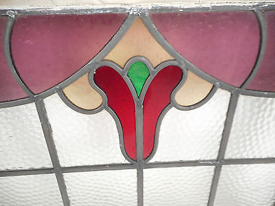 Vintage Stained Glass Window Panel (3119)NJ 5