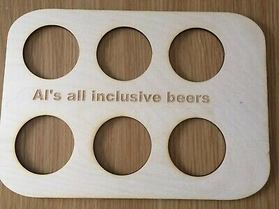 Wooden Holiday Drinks Holder FREE PERSONALISATION 2
