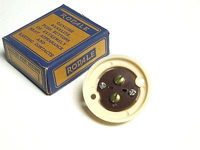 NIB .. RODALE Vintage Bakelite Pushbutton Door Bell (Ivory) Cat# 303 .. VM-36 2