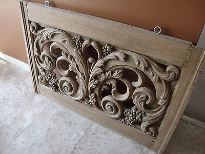 French Carved Outdoor Window Beautiful Detail 5