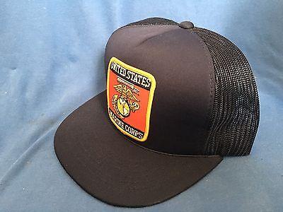... Vintage United States MARINE CORPS Trucker Hat USMC Cap Semper Fidelis  Military 4 16deec0d2a3