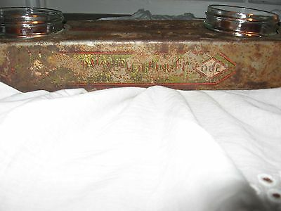 Up Cycled SteamPunk Tray, Reed Manufacturing Co. Pipe Die Holder 12