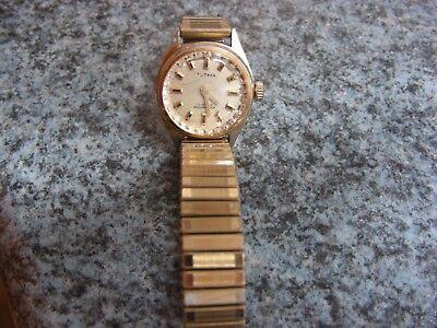 Ältere goldfarbene Damen-Uhr von Tutima - 17 Rubis - Shockproof - Vintage - RAR