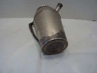 Antique Vintage J F Silverplate Cocktail Shaker Pitcher with Handle 6
