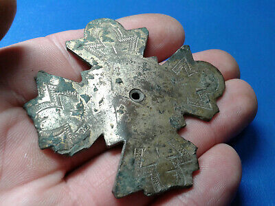 Ancient Byzantine Bronze Cross 3