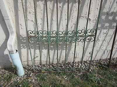 Antique Victorian Iron Gate Window Garden Fence Architectural Salvage Door #355 4