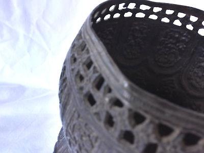 Pr.  18th/19th Century Persian Islamic Embossed Bronze Metal Vases/Urns 6