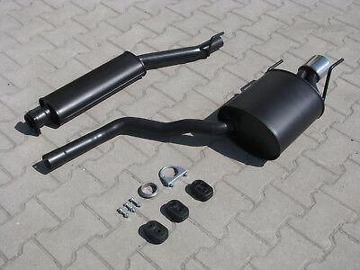 Auspuff für Mercedes CLK 200 230 C208 A208 Cabrio 2.0 2.3 Endschalldämpfer *3301