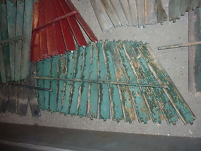 SALVAGED wooden SHUTTER slats GREAT for ART projects & painting - w/ATTACHED bar 6
