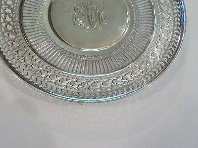 "Watson Sterling Silver Reticulated 8"" Sandwich/Dessert Plate / Tray, #4558 3"
